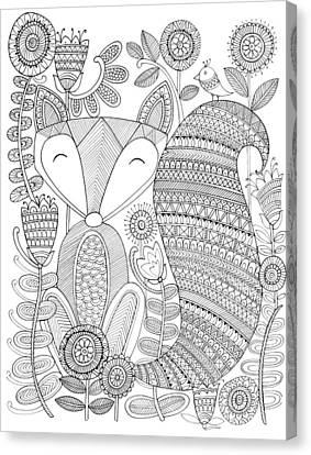 Animal Fox 4 Canvas Print