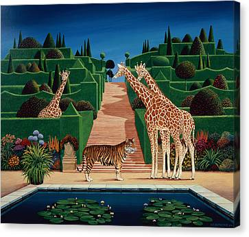 Animal Garden Canvas Print by Anthony Southcombe