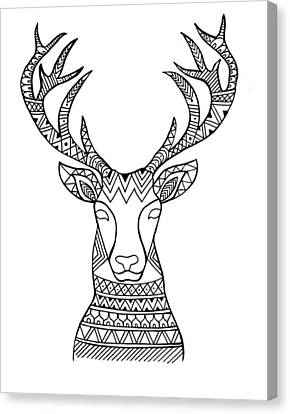 Animal Head Deer Canvas Print