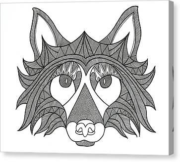 Animal Head Fox Canvas Print