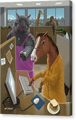 Animal Office Canvas Print by Martin Davey