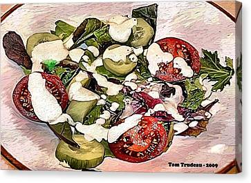 Culinary Canvas Print - Animal Salad by Tommi Trudeau