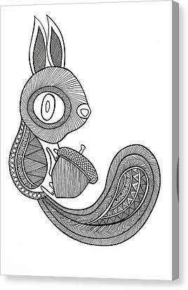 Animal Squirrel Canvas Print by Neeti Goswami