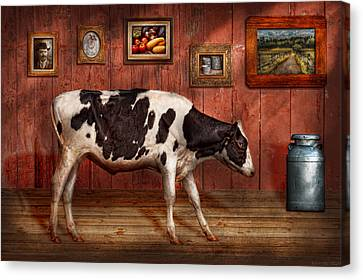 Animal - The Cow Canvas Print by Mike Savad