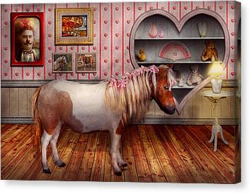 Animal - The Pony Canvas Print by Mike Savad