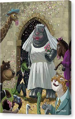 Animal Wedding Canvas Print by Martin Davey