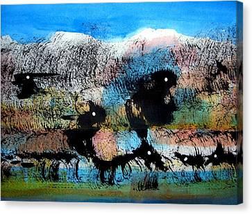 Animal World 121005-3 Canvas Print by Aquira Kusume