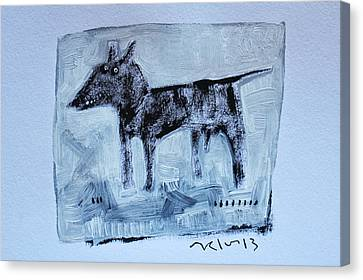 Animalia  Canis No 2 Canvas Print by Mark M  Mellon