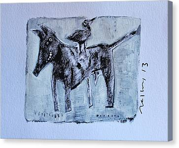 Animalia Canis No. 3 Canvas Print by Mark M  Mellon