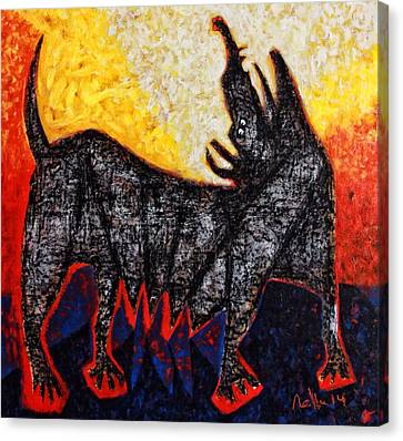 Animalia Canis No. 8  Canvas Print by Mark M  Mellon