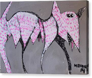 Animalia Canis With Pink Dots  Canvas Print by Mark M  Mellon
