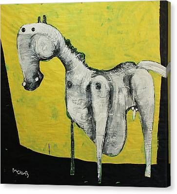 Primitive Art Canvas Print - Animalia  Equos No 2 by Mark M  Mellon