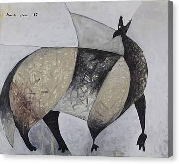 Art Brut Canvas Print - Animalia Howling Coyote by Mark M  Mellon