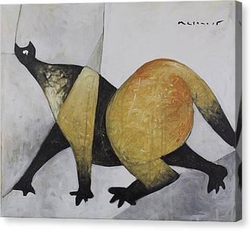 Art Brut Canvas Print - Animalia Prowling Cat  by Mark M  Mellon