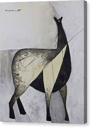 Llama Canvas Print - Animalia Standing Llama  by Mark M  Mellon