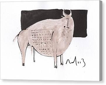 Primitive Art Canvas Print - Animalia Taurus No. 7  by Mark M  Mellon