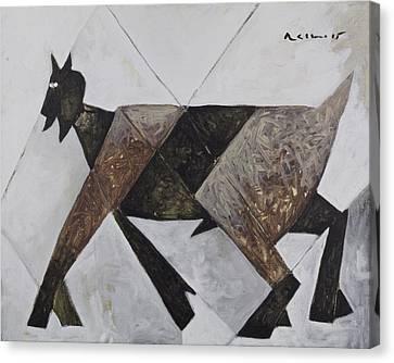 Art Brut Canvas Print - Animalia Walking Goat  by Mark M  Mellon