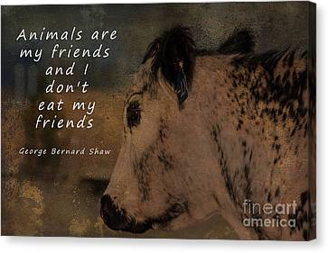 Animals Are My Friends Canvas Print by Janice Rae Pariza