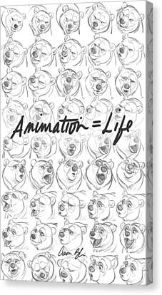 Animation  Life Canvas Print by Aaron Blaise