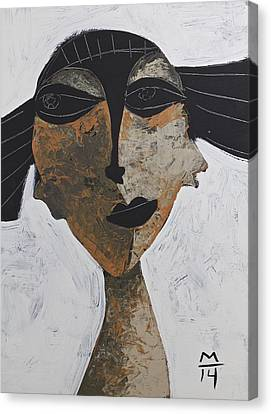 Woman Head Canvas Print - Animus No 56 by Mark M  Mellon