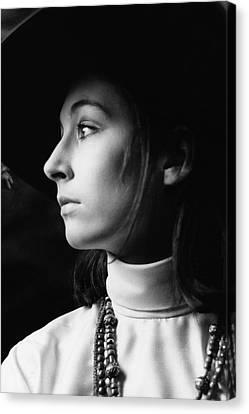 Anjelica Huston Wearing Beads Canvas Print
