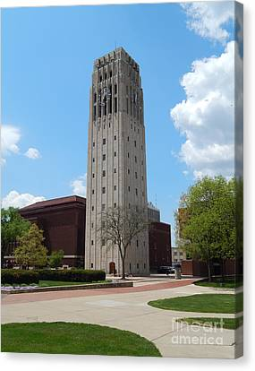 Ann Arbor Michigan Clock Tower Canvas Print by Phil Perkins