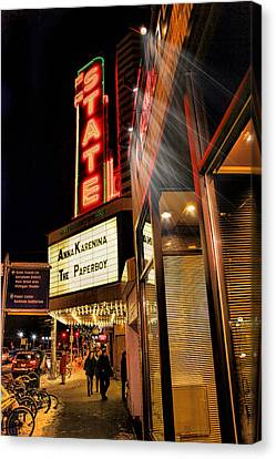 State Theater Marquee Canvas Print by Pat Cook