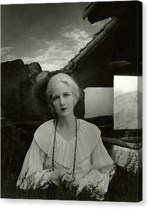Ann Harding Wearing A Blouse Canvas Print by Edward Steichen