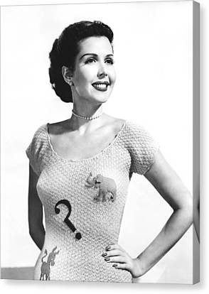 Ann Miller Election Dilemma Canvas Print by Underwood Archives