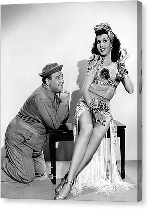 Ann Miller In Hey, Rookie  Canvas Print by Silver Screen