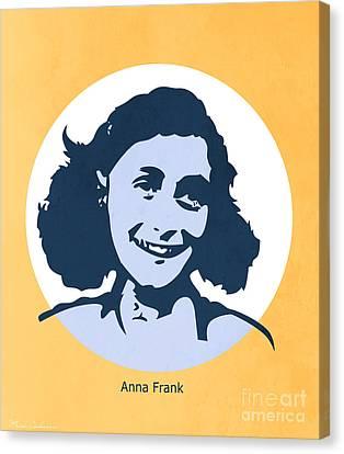 Anna Frank Canvas Print by Mark Ashkenazi