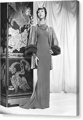 Gold Lame Canvas Print - Anna May Wong In An Edith Head-designed by Everett