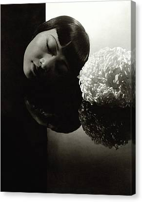 Chinese Ethnicity Canvas Print - Anna May Wong Resting Her Head by Edward Steichen