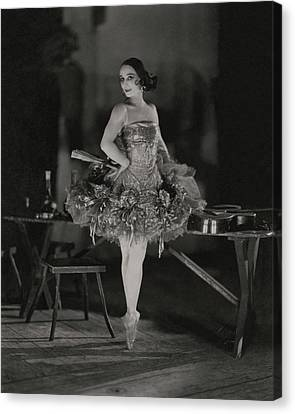 Tutu Canvas Print - Anna Pavlova In Her Ballet Costume by James Abbe
