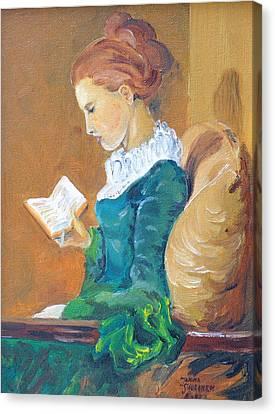 Anna Reading Canvas Print by Janina  Suuronen