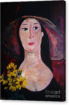 Canvas Print featuring the painting Anna by Reina Resto