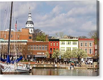 Annapolis Downtown Harbor Canvas Print