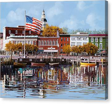 Church Canvas Print - Annapolis by Guido Borelli