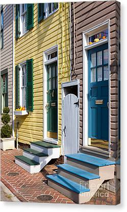 Annapolis Historic Homes I Canvas Print by Clarence Holmes
