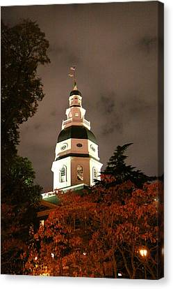 Capitol Canvas Print - Annapolis Md - 121228 by DC Photographer