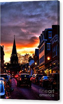 Annapolis Night Canvas Print by Olivier Le Queinec