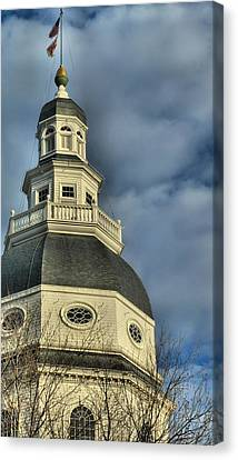 Annapolis Statehouse Canvas Print by Jennifer Wheatley Wolf