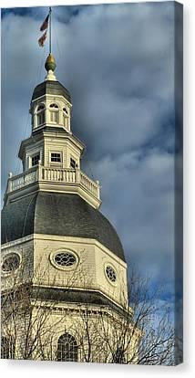 Annapolis Statehouse Canvas Print