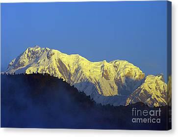 Canvas Print featuring the photograph Annapurna Dawn by Jacqi Elmslie