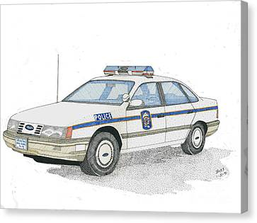 Anne Arundel County Police Canvas Print by Calvert Koerber