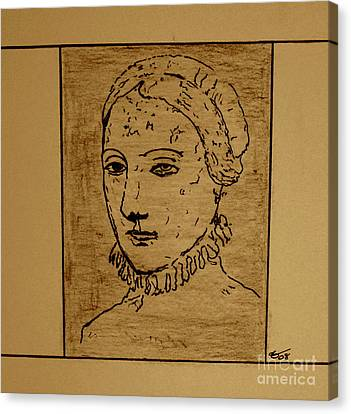 Canvas Print featuring the drawing Anne by Bill OConnor
