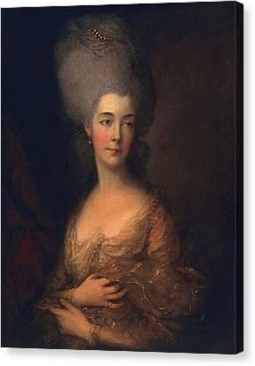 Anne, Duchess Of Cumberland, C.1777 Canvas Print by Thomas Gainsborough