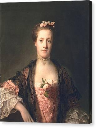 Anne Garth-turnour, Baroness Winterton Canvas Print by Allan Ramsay