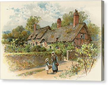 Anne Hathaway's Cottage At Shottery Canvas Print by William Stephen Coleman