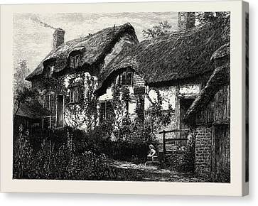 Anne Hathaways Cottage,  Stratford Upon Avon Canvas Print by English School